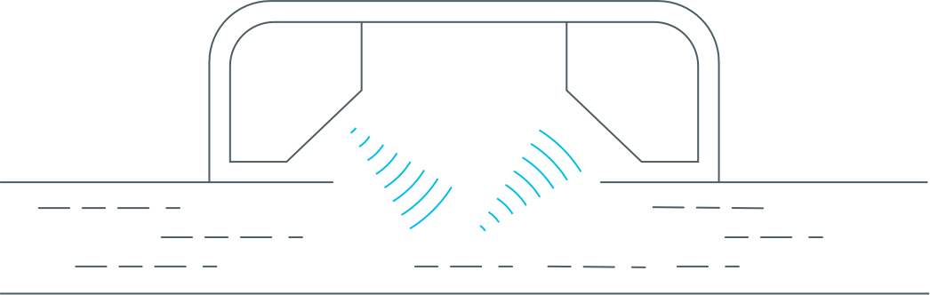 Diagram of StreamLabs ultrasonic technology
